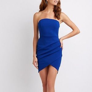 Blue Bodycon Wrap Dress